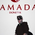 Famous shocking model and a DJ Rick Jenest aka Zombie Boy has paid a visit to the Ramada Donetsk hotel!